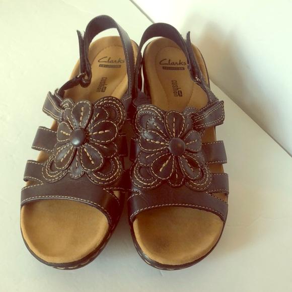 2016e4c4387194 Clarks Shoes - Clarks Women s Navy Blue Soft Cushion Sandal 8